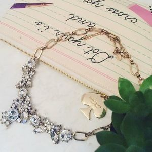 Faux Diamond Statement Necklace